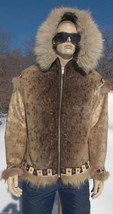 Alaskan Parka Coat Jacket;Hood,Cuffs;Bead Trim;1950's;Medium size;Unisex... - $2,000.00