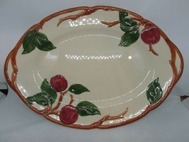 "FRANCISCAN Apple Pattern Oval Serving Platter 12"" American Backstamp EUC - $29.95"