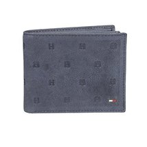 Tommy Hilfiger Men's RFID Blocking Leather Passcase Wallet with Emboss -navy, 1S