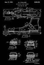 1941 - Ski and Shoe Assembly - D. A. Wallace - Patent Art Poster - $9.99+