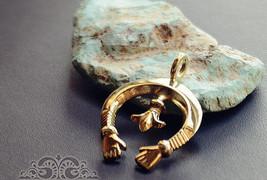 Handmade Brass Amulette Pendant Keychain Key Ring Necklace Gift - $20.96