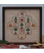 Bees and Trees Petit Motifs w/button cross stitch chart AnnaLee Waite De... - $10.80