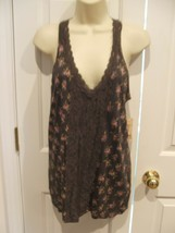 NWT $26 Decree  OLIVE  SLEEVELESS top machine wash100% polyester Junior ... - $14.84