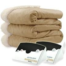 Biddeford 6004-9051136-713 Electric Heated Micro Mink/Sherpa Blanket, Ki... - $66.19