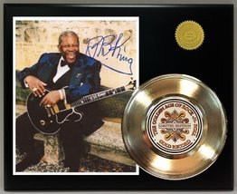 B. B. King Gold Record Reproduction Signature Series LTD Edition Display - $85.45