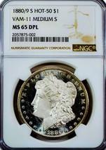1880/9 S MS65++ DMPL/ DPL MORGAN  DOLLAR VAM-11 MED 'S'. LOOKS 66. BV $1... - $1,274.00