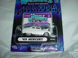 Muscle Machines '49 Mercury White #02-36 1/64 Scale Mip Free Usa Shipping - $11.29