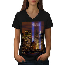 New York City Life Shirt Urban Art Women V-Neck T-shirt - $12.99+