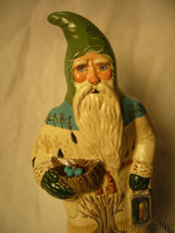 Vaillancourt Folk Art Think Spring Santa with Robin's Nest  Signed by Judi image 5