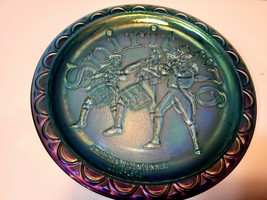 1776 Bicentennial Commemorative Plate Indiana Glass Co. - Blue Carnival ... - $21.99