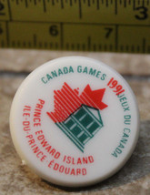 1991 Canada Games Prince Edward Island PEI Plastic Collectible Pin - $7.51