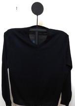 Club Room Men's Sweet Black Merino Blend V-Neck Classic Fit Sweater - Large - $17.95