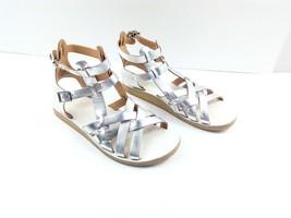 Anthropologie Latigo Women's Gladiator Sandals Wow Silver Flat Summer Shoes 8M - $49.32