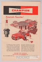 Champion Spark Plugs '40s Automotive Auto Parts Vtg PRINT AD Advertiseme... - $7.84