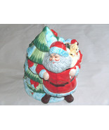 """2006 GIBSON HOLIDAY COLLECTION 10"""" GREETING SANTA CLAUS CERAMIC COOKIE J... - $56.40"""