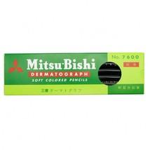 Mitsubishi Pencil Dermatograph Pencil No.7600 Black 1 dozen Oily Made in... - $12.99