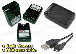 LG Optimus Zip L75C Straight Talk External Battery Charger + USB Data Sy... - $13.90
