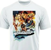 Killer Fish Dri Fit T-shirt printed active wear retro movie microfiber Sun Shirt image 1