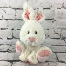 "11"" Bunny Rabbit Plush Cream And Pink Super Soft Sitting Stuffed Animal Soft Toy - $11.88"