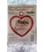 "Galleries of Stitches Mini Counted Cross Stitch Kit ""Seasons Greetings"" ... - $16.99"