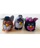 3 FURBY plush KEYCHAINS lot Backpack Clip Ons fast food stuffed toys col... - $6.99