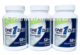 (3) One A Day Men's 50+ Healthy Advantage Multi 65 tablets each 10/2020 READ - $19.88