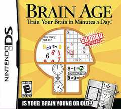 Brain Age: Train Your Brain in Minutes a Day (Nintendo DS, 2006)  - $13.99