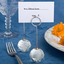 Choice Crystal Collection Crystal Ball Place Card Holders, 18 - €54,15 EUR