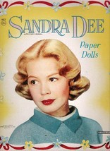 VINTAGE UNCUT ORIGINAL SIZE 1959 SANDRA DEE PAPER DOLLS~8 PAGES CLOTHES~... - $19.50