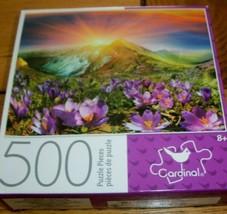 Jigsaw Puzzle 500 Pcs Mountains Flowers Sun China Jiuzhaigou National Pa... - $12.86