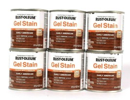6 Cans Rust-Oleum 8 Oz Gel Stain One Coat 344617 Early American Rich Dee... - $25.99