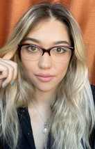 New Oliver Peoples 50mm Burgundy Eyeglasses Frame Italy - $149.99
