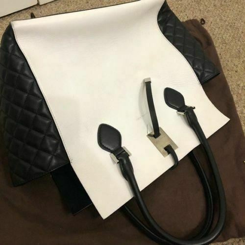 7715ff646e29 Michael Kors Miranda Quilted Black & White and 50 similar items. S l1600