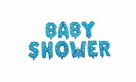 Blue BABY SHOWER Metallic Banner Party Sign Stars Foil Balloon Decoratio... - $9.49