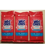 [3 in a Bundle] Wet Ones Anti-Bacterial Wipes, Fresh Scent, Exp. in 2/2022 - $18.00