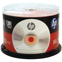 HP DM16050CB 4.7GB 16x DVD-R (50-ct Cake Box Spindle) - $27.22