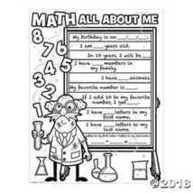 Color Your Own Math All About Me Posters  - $11.49