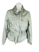 Anorak Style Windbreaker Medium Lightweight Jacket Full Zip Drawstrng Wa... - $19.60