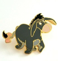 Disney Winnie The Poo Eeyore Gold Tone Enamel Lapel Pin Collectible  - $15.60