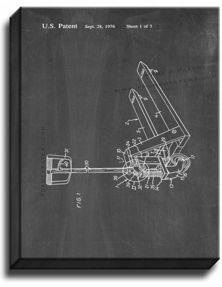 Primary image for Hand-operated Pallet Truck Patent Print Chalkboard on Canvas