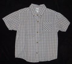 Gymboree Spring Training Navy White Plaid Shirt Size 5  - $9.49