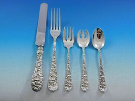 Rose by Stieff Sterling Silver Flatware Set Service 30 pieces Repousse Dinner - $2,695.00