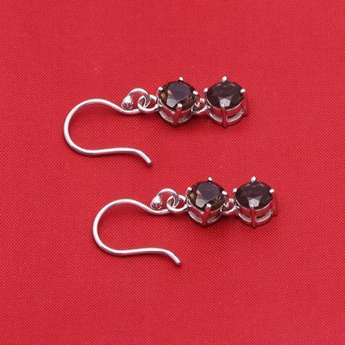 Wonderful Smoky Quartz 925 Sterling Silver Earring Shine Jewelry SHER0799
