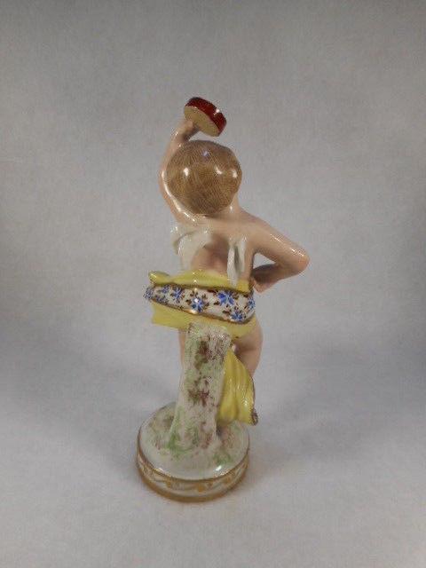 Vintage Hand Painted French Porcelain Angel Cherub Figurine