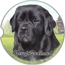 Newfoundland Car Coaster Absorbent Keep Cup Holder Dry Stoneware New Dog... - $10.88