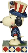 "Peanuts by Jim Shore Patriotic Snoopy Stone Resin Figurine, 6"" - £28.48 GBP"