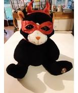 "Harley Davidson Halloween Black Cat Devil Mask Cape  10"" tall - $16.82"