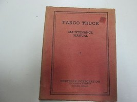 1935 Chrysler Fargo Truck Maintenance Manual Minor Wear Factory Feo Book 35 Deal - $74.24