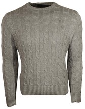 Polo Ralph Lauren Men's Pony Cable Knit Crewneck Sweater Grey M L XXL - $74.79+