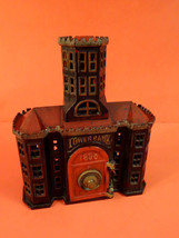 All Original 1890 KEYSER & REX Tower Bank Cast Iron Building With Safe - $695.00